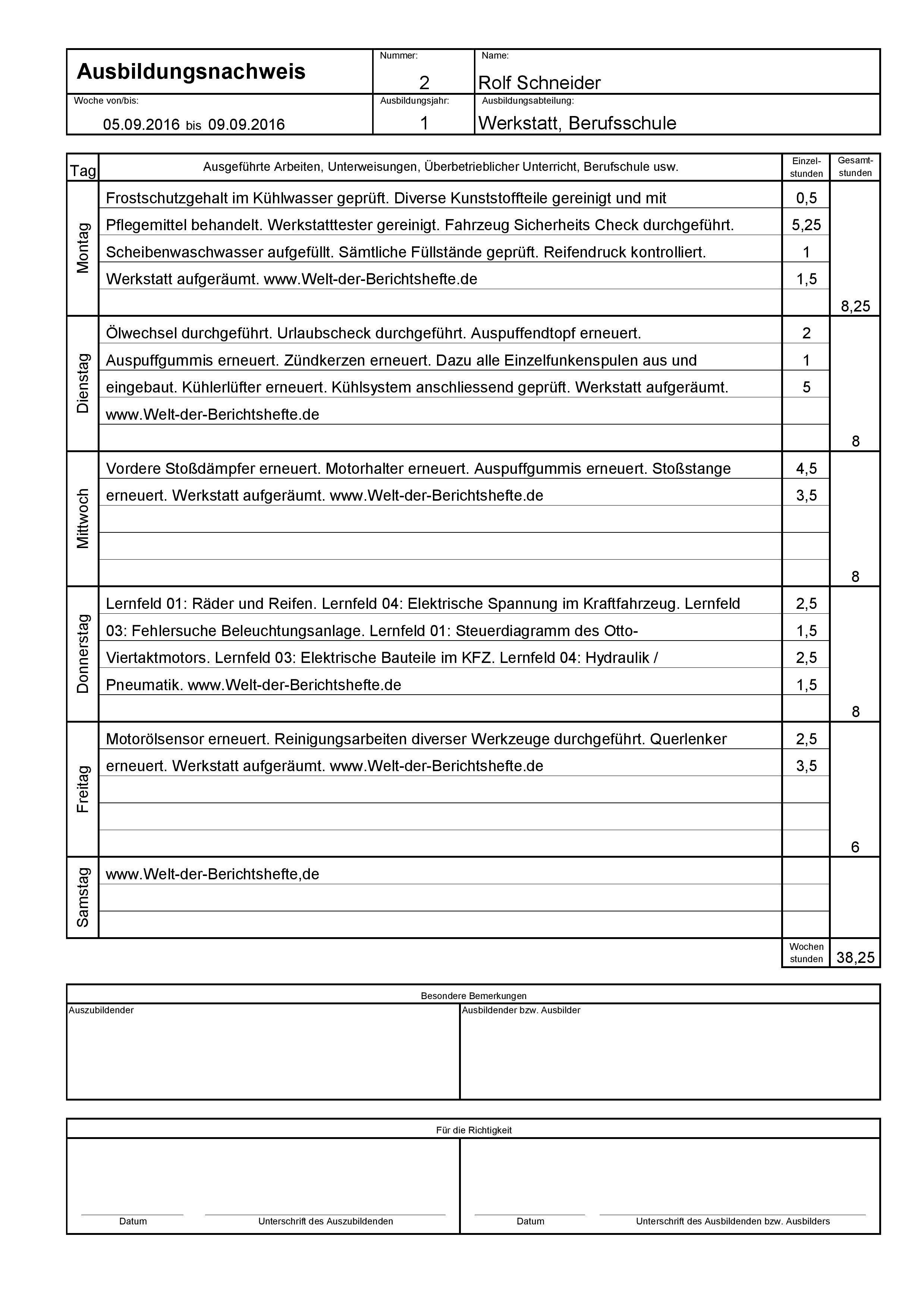 Kaufmann Frau Einzelhandel Fertiges Berichtsheft Download